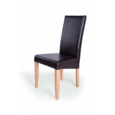 Berta szék sonoma tölgy barna textilbőr