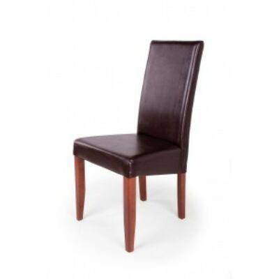 Berta szék szilva barna textilbőr