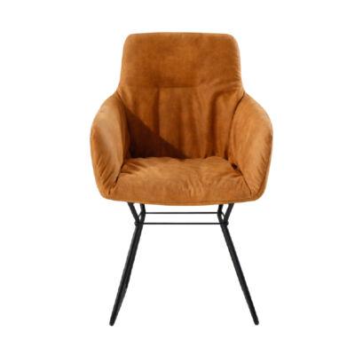 Fotel,barna anyag/fekete, LANTOS