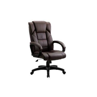T-Irodai szék barna textilbőr/műanyag SIEMO NEW