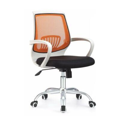 T-Irodai szék, fekete/narancssárga, LANCELOT