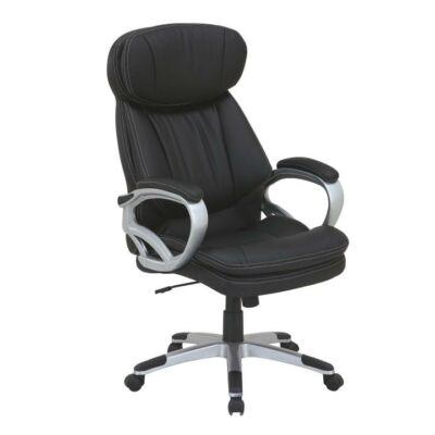 T-Irodai szék, fekete textilbőr, ROTAR