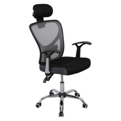 T-Irodai szék, hálós, fekete/szürke.GRISEL