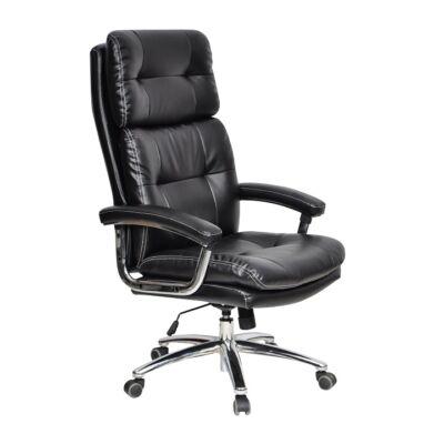 T-Irodai szék,,fekete textilbőr GILBERT
