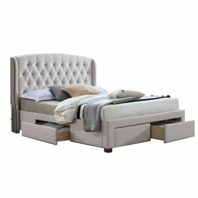 Modern ágy tárolóhelyekkel, 180x200 cm, AKANA