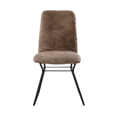 Modern szék, szürke anyag/ fekete fém, ALMIRA