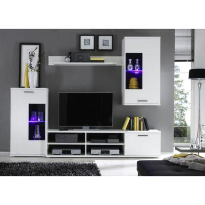 fehér modern nappali bútor