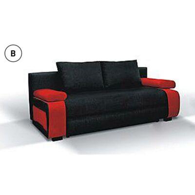 inez  ággyá alakítható kanapé fekete piros