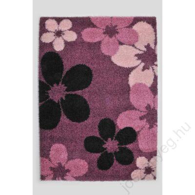 1-890 Shaggy szőnyeg -  Nagy virágos, Pink