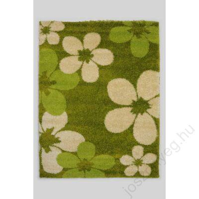 1-890 Shaggy szőnyeg -  Nagy virágos, Zöld