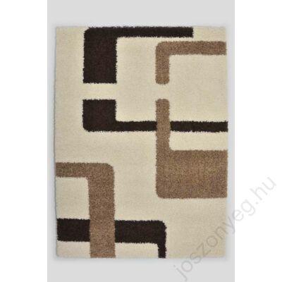 1-909 Shaggy szőnyeg - Vonalas,  Bézs