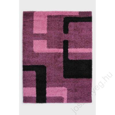 1-909 Shaggy szőnyeg - Vonalas,  Pink
