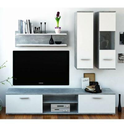 Waw new modern szekrénysor beton/ fehér
