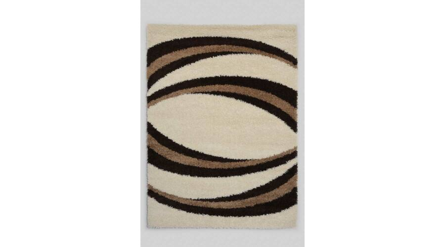 Nagy méretű bézs alapon barna mintás shaggy szőnyegünk akciós áron ... 6d5de0646a