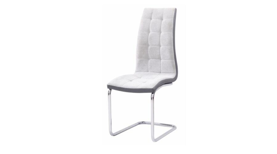 szánkótalpas szürke fehér szék