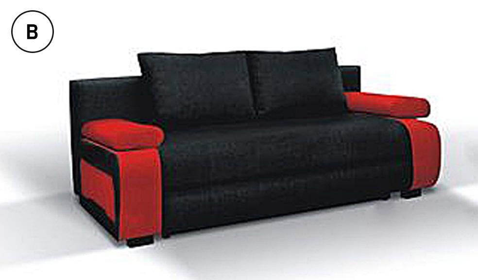 inez ággyá alakítható kanapé fekete piros - Kanapék - Jószőnyeg.hu -  Szőnyegeinkkel a lakásában 031f617a5b